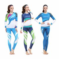 Wholesale Women Professional Sports T shirts Quick Dry compression Tights Long Sleeve Running Shirts Workout Fitness GYM Fitness shirts