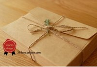Wholesale New Cute Vintage Kraft Paper Envelope Wedding Gift Envelopes mm H0749