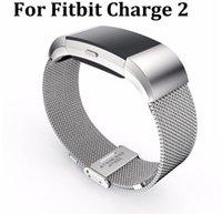 Magnética de la correa de muñeca original Milanese Loop Enlace de lujo banda de acero inoxidable de la pulsera cierre ajustable para Fitbit Carga 2
