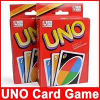 Wholesale UNO Poker Card Standard Edition Family Fun Entermainment Board Game Kids Funny Puzzle set DHL free