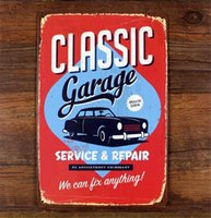 automotive service signs - Vintage Classic Garage Service Repair Metal Tin Sign Plaque Garage Automotive Repair Wall Decor Art Poster x12 inch