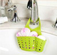 Wholesale Adjustable Sink Space saving Plastic Kitchen Sink Caddy Basket Organizer Sponge Holder Faucet Rack