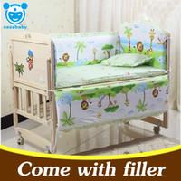 Wholesale 5PCS set newborn baby bedding set for girl boys bedding set x58cm baby crib bumper baby cot set baby bed bumper CP01