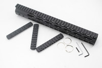 Wholesale 13 Inch Super Slim Free Float Key Mod Handguard Rail Black with Steel Barrel Nut Picatinny Rail Section