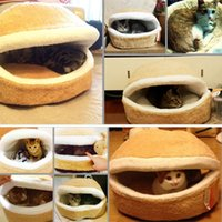 Wholesale 1Pc Detachable Pet Dog Cat Hamburger Shape Sleep Bed Nest Warm Cushion House Warm Soft Cozy Nest Dog House Lovely Pad