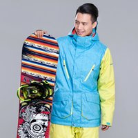 Wholesale Fashion Man Skiing Clothing Warm Ski Jacket Windproof Waterproof Snowboard Single And Double Plate Winter Coat Male Outdoor Coat