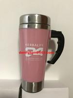 auto coffee mugs - Pink Color Herbalife Shake Bottle ml Stainless Lazy Self Stirring Mug Auto Mixing Health Meal Tea Coffee Mug Cups