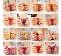 Wholesale Hot Sales Fashion Brand new color choice in a bottle Acrylic French Press on False Nail Art Tips No Need Glue