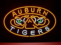auburn bars - Brand New AUBURN TIGERS Real Glass Neon Sign Beer light quot X24 quot