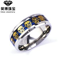 american steel wire - 2016 New Men s Ring Stainless Steel Punk Rock Ring With Wire Cubic Zirconia Party Jewelry USA Size