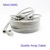 Le câble réseau de la caméra IP de haute qualité combine 5MM DC 12V câble d'alimentation CAT5E RJ45 Combo IP CCTV Line Wire 50m pour Array IP Camera