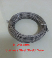 Wholesale K Type mm Fiberglass Coated Stainless Steel Shield Thermocouple wire meters