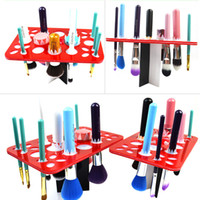 air dry rack - Round Holes Air Dry Organizing Makeup Cosmetics Brushes Tower Tree Rack Holder Make Up Tools Kit
