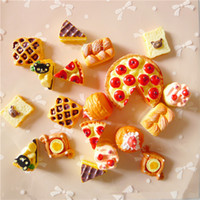 beauty pizza - Prrety Cute imitation food mobile Phone beauty Shell material Simulation food DIY resin accessories resin pizza bread