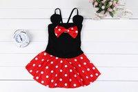 Wholesale Fashion Summer Swim Suit Girl Beach Cartoon Toddler Kids Swimwear One Pieve Bow Sweet Swimwear S2084