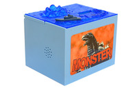 Wholesale Godzilla Bank Box Movie Musical Monster Moving Electronic Coin Money Piggy Bank Box LED Sound Money Saving Box
