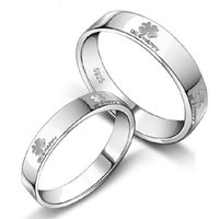 Wholesale Couples buddhist monastic discipline silver jewelry sales sterling silver lovers rings gifts for lover NO184