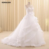 beautiful flowers photos - 2016 Bouffant Lace Crystal Applique Embroidery Multilayer Wonderful Pretty Sweet Beautiful Sexy Wedding Gown Wedding Dress