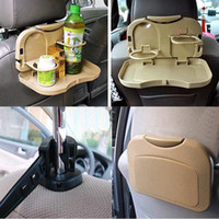 Wholesale Car Dining Table Car Back Seat Meal Drink Tray Desk Auto Water Drink Holder Cup Bottle Stand Mount Durable Foldable