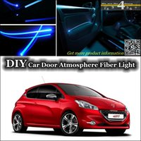 ambient lighting car - Atmosphere Fiber Optic Band Lights interior Ambient Light DIY Tuning For Peugeot Car Door Panel illumination Refit