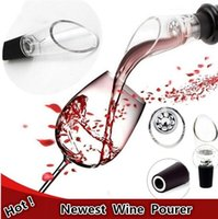 Wholesale Silicone Wine Aerators Wine Decanting Aerating Filter Aerator Pourers Bar tools wine pourers with OPP packaging