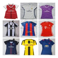 Wholesale 16 Chelsea women s football jersey Real Madrid female thai quality women soccer jersey AC Milan shirt Spain girls lady s t shirts