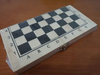 Wholesale Portable chess wood pieces and board simply version with wood foldable box board