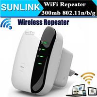 al por mayor router inalámbrico de expansión de rango-EU US AU UE Plug N 802.11N / B / G WPS 300Mbps WiFi Repetidor de red para AP Router Range Expander Amplificador Amplificador