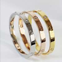 Wholesale Brand Bangle Bracelet Non fading Colors Plating New Trendy Design Stainless Steel With CZ Stones VG Vocheng Jewelry