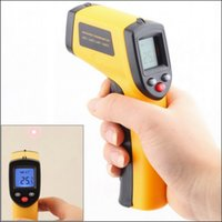 Wholesale 50pcs Digital GM320 Laser LCD Display Non Contact IR Infrared Thermometer to C Auto Temperature Meter Auto Temperature Meter Sen