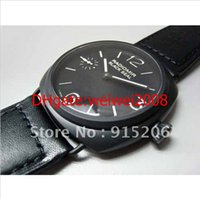 band sealed - FASHION Grand PAM Black Seal Ceramic Bezel Automatic Mens Watch Luxury Men s outdoor watch Sports Watches Leather Band