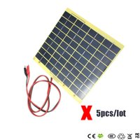 Wholesale 5pcs Hot Sale V W Polycrystalline Silicon Solar Cell Solar Panel Crocodile Clip Diy Solar System for Battery Charger