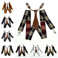 Wholesale Men s Adjustable Clip on Elastic Suspenders Unisex Striped Plaid Floral Braces cm Width BD627 BD640