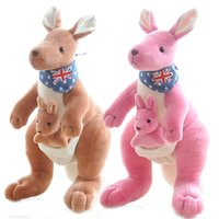 Wholesale 2016 New toys Creative mother kangaroo doll plush toys cartoon dolls cute doll parent child children s day birthday gift colors