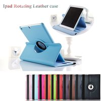 Wholesale Hot sales colors Send DHL FedEx Folding For Apple iPad Air Mini Wake Luxury Case Cover PU Leather