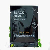 Wholesale 500pcs Cheap Black Mask PILATEN Tearing Style Nose Clean Black Head Close Pores Facial Mask Head Pore Strip BM_01