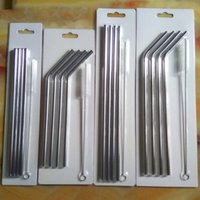 Wholesale New Stainless Straws Kit fits for oz and oz oz colored Tumbler Rambler Cups Stainless Steel cups