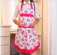 Wholesale sleeveless new flower Promotion Special Offer Apron Kit Bib Apron printing Long Sleeve Cuff Waterproof Aprons Gowns Suits For Men And Women