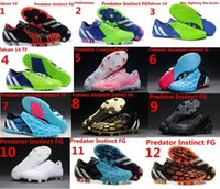athletic shoe world - 100 Original Predator Instinct FG World Cup AG Men s Soccer Cleats Boots TF IC Football Shoes Sport Authentic Athletic Messi Ace