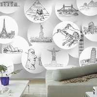 architecture backgrounds - Custom photo Silk D wallpaper for walls D Living room office hotel TV background wall covering architecture mural wallpaper