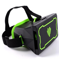 Wholesale 3D Virtual Reality Equipment Fashion For Google Cardboard Box d VR Glasses Active Shutter Stereoscope Televisions Headset Green Plastic