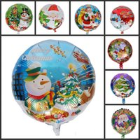 aluminium tree - New Arrival Inch Santa Claus Christmas Tree Helium Aluminum Foil Balloons Styles For Kids Toys Christmas Party Decorations
