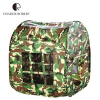 army play - Little Army Kids Tent Casa Boy Game Play Tent Children Outdoor Toys Army Green Play house Teepee Foldable Sports Tent HT2747