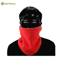 alpine sports - Alpine Meadows Red Fleece Wind Warm Skiing Neck Bibs Face Mask Running Cycling Climbing Outdoor Sports Scarf Caps