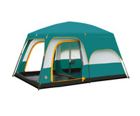Wholesale Water Resistant Person Room Family Tent with Large Door for Camping Traveling Green