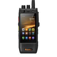 Runbo H1 H1b Andriod 5.1 OS Impermeable IP67 Rugged GSM WCDMA 4G Lte Teléfono industrial del grado 4 vatios Salida DMR Nivel 2 Analog Two Way Radio