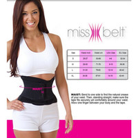 Wholesale Newest Miss Belt Slimming Shaper Sports Waist Tummy Girdle Waist Trainer Body Shaper Belt For An Hourglass Shapers Cinchers