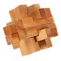 Wholesale High Quality Vintage D YX835 Wooden Brain Teaser Puzzle Game Toys Special Collector Gift For Children Adult Educational Toy