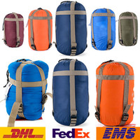 Wholesale Sleeping Bag Outdoor Camping Sleeping Bag Unisex Lightweight Compression Stuff Sack Bag Outdoor Camping Hiking Sleeping Bag WX H01