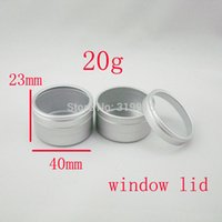 aluminum window capping - 20g X empty cosmetic aluminum tin jars ml disposable aluminum container cosmetic packaging pot g with window cap bottles